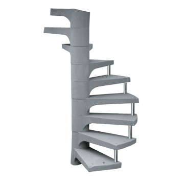 Escada de concreto caracol