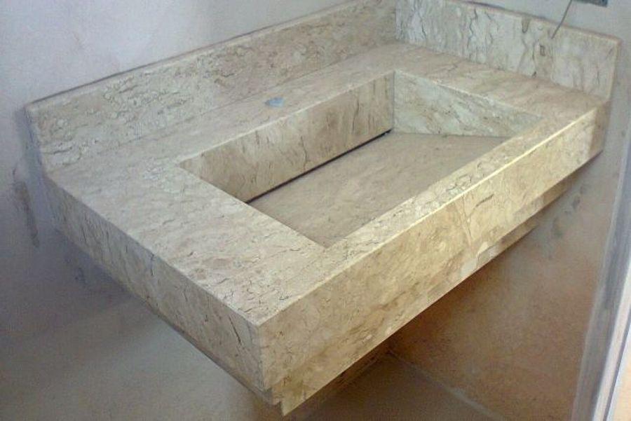 Lavatório de pedra de granito