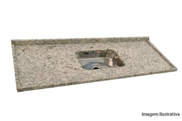 Pia de granito com cuba de inox